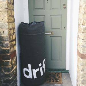 The Drift Sleep mattress arrives on your doorstep rolled up in a reusable bag, making it much easier to get up the stairs than your average mattress!